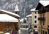 Vila alpina, itália — Fotografia Stock
