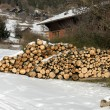 Stock Photo: A Stack of Firewood
