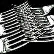 Stock Photo: Dinner Forks