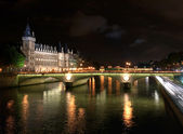 The Conciergerie & River Seine, Paris, France — Stock Photo