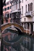 канал сцена, венеция, италия — Стоковое фото