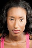 Glamorous black woman — Stock Photo