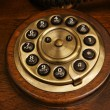 The old desk's phone dial disc — Stok fotoğraf