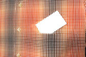 White card in a shirt pocket — Foto de Stock