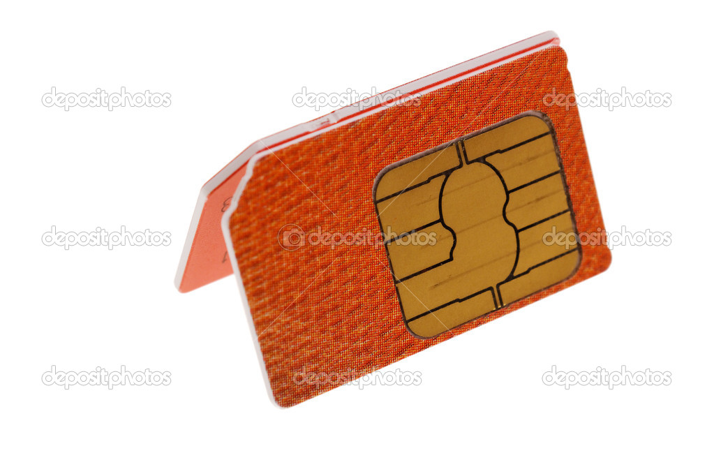 SIM cards for cell phones. isolated on white background  Stock Photo #6518574