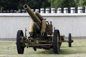 Old rusty howitzer — Stock Photo