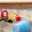 Sandpit with toys — Stock Photo
