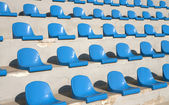 Seats on a country stadium — Stock Photo