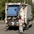 Stock Photo: Garbage collector