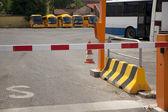 Bus parking — Стоковое фото