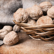 Walnuts,old-fashioned. — Stock Photo