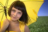 Žlutý deštník — Stock fotografie