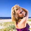 Stock Photo: Woman on a beach.