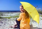 Woman with umbrella. — Stock Photo
