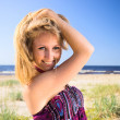 Girl on a beach. — Stock Photo #6031787
