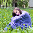The young woman in park. — Stockfoto