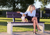 Woman in park. — Stock Photo