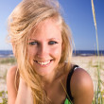 Woman on a beach. — Stock Photo #6502851