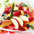 Fresh fruit dessert - Stock Photo
