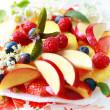 Fresh fruit dessert — Stock Photo