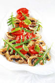 Champignon Carpaccio — Stock Photo