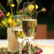 Two glasses of champagne — Stock Photo #5846453