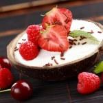Coconut ice cream — Stock Photo #5846475