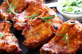 Spare ribs with sour cream — Stockfoto