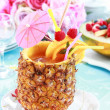 Pineapple drink - 图库照片