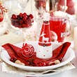 Table setting for Christmas - Stock Photo
