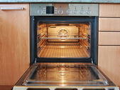 Open oven — Stock Photo