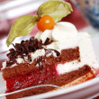 Cherry sponge cake with cream - Foto de Stock  
