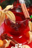 Hot wine punch — Stock Photo