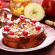 Cake Charlotte for Christmas — Stock Photo