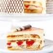 Stock Photo: Tiramisu birthday cake