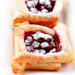 Cherry puff pastry — Stock Photo