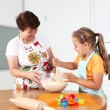 Baking and having fun - Foto Stock