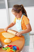 Child baking cookies — Stock Photo