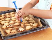 Dekorieren cookies — Stockfoto