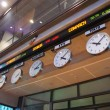 Timezone Stock Clocks — 图库照片