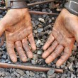 Detail of dirty hands - blacksmith — Stock Photo #5949445