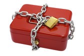 Locked cash box — Stock Photo