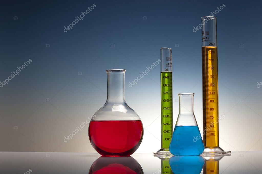Glass in chemistry laboratory  Stock Photo #5625018