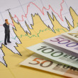 Business finance chart - Stock Photo