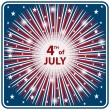 4th July independence day starburst - Stock Vector
