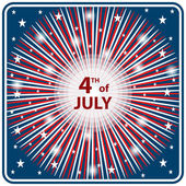 4th July independence day starburst — Stockvector