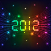 2012 New year background — Stock Vector