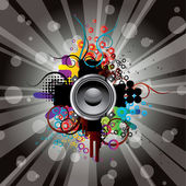 Abstract picture with musical themes. — Stock Vector