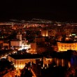Malaga at Night - Stock Photo