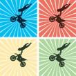 Freestyle motocross jump — Stock Vector